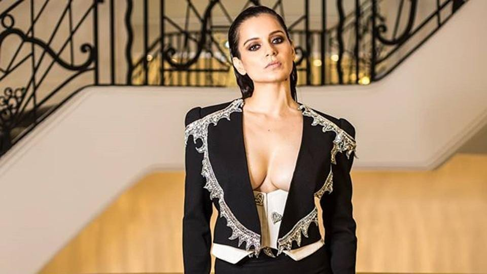 Kangana stuns in an edgy pant-suit for Cannes 2019 party.