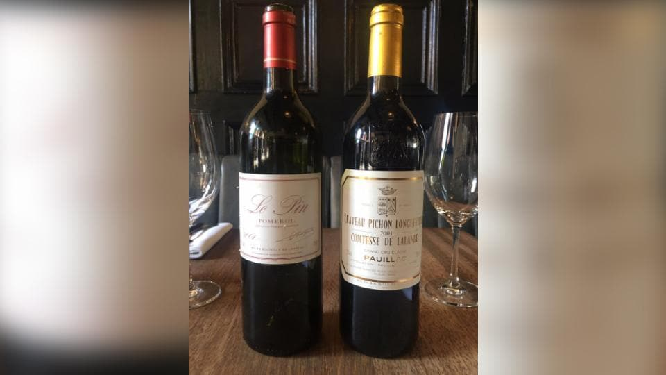 The customer ordered a bottle of 2001 Chateau Pichon Longueville Comtesse de Lalande worth $335.