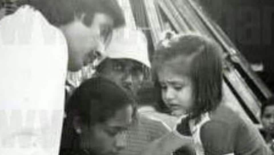Amitabh Bachchan shared an old picture featuring Kareena Kapoor as a child on the sets of his film, Pukar, in Goa.