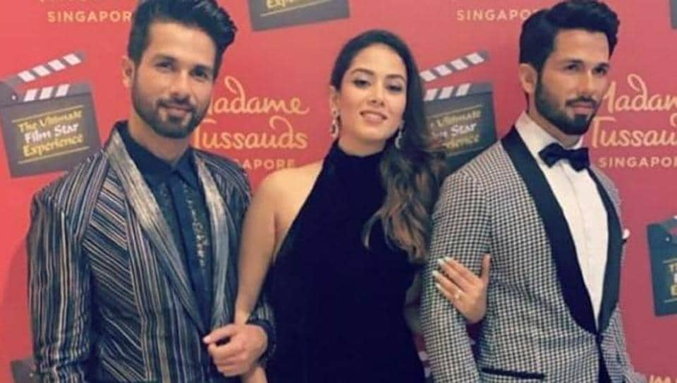 Shahid Kapoor and Mira Rajput were in?Singapore for the inauguration of his wax model at Madame Tussauds.