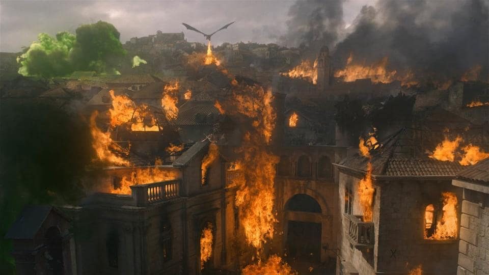 Drogon and Daenerys Targaryen torched the whole King's Landing on Game of Thrones.