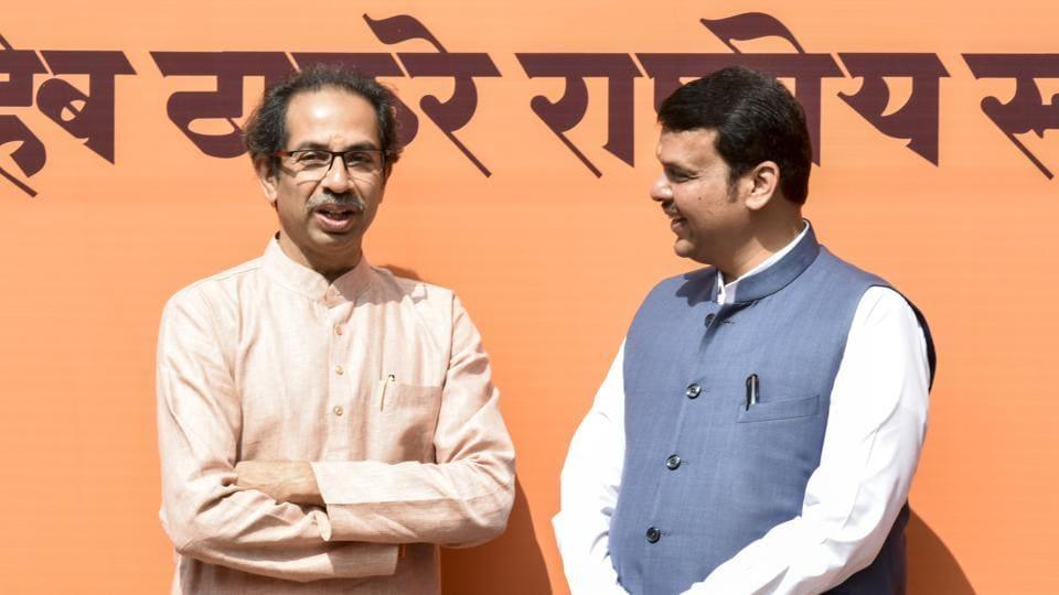 Shiv Sena chief Uddhav Thackeray and Maharashtra chief minister Devendra Fadnavis.