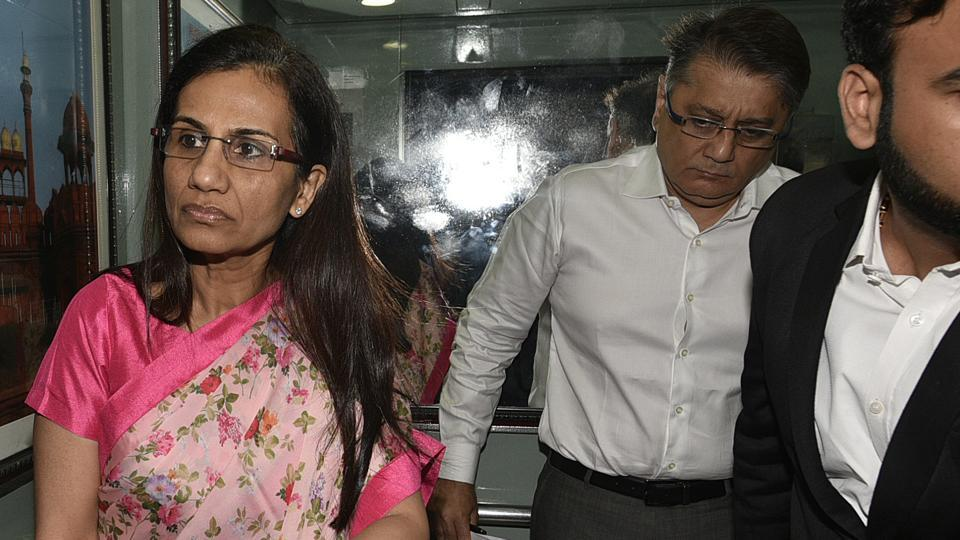 Former ICICI Bank CEO Chanda Kochhar and her husband Deepak Kochhar arrive to appear before Enforcement Directorate (ED) in connection with a bank loan fraud and money laundering case probe, in New Delhi, India, on Tuesday, May 14, 2019. (Photo by Biplov Bhuyan/ Hindustan Times)