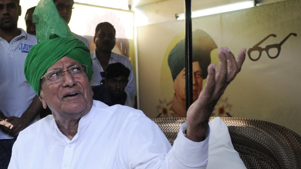 The Enforcement Directorate has provisionally attached the property of former chief minister of Haryana Om Prakash Chautala worth nearly Rs 2 crore on charges of money laundering. The property consists of land and a farmhouse located in New Delhi worth Rs 1,94,52,347, officials said, and was attached under the Prevention of Money Laundering Act (PMLA), 2002. (Mohd Zakir / HTArchive)