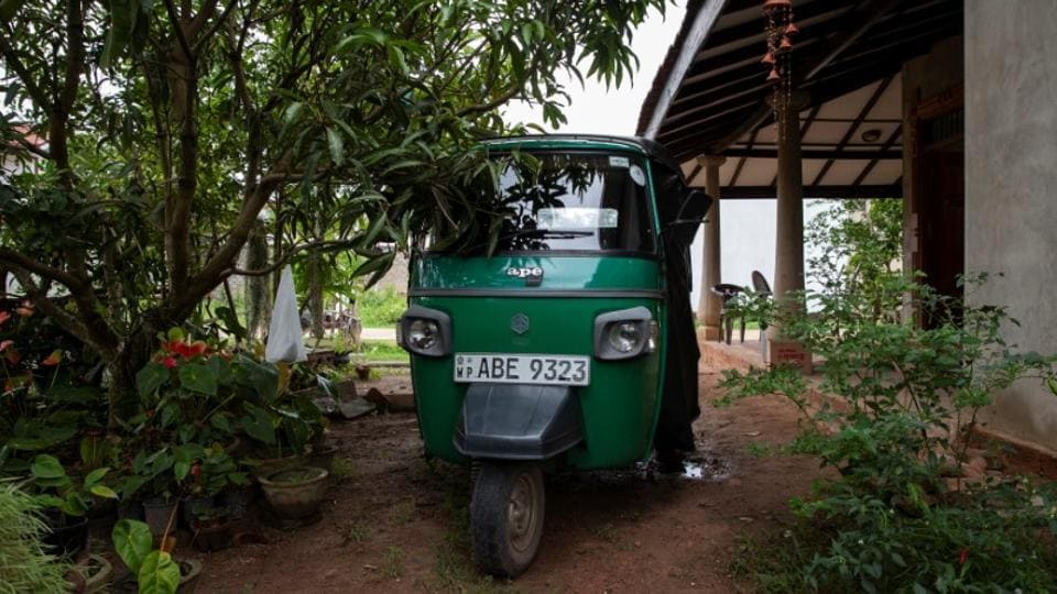 A three-wheeler belonging to Sampath Wishwakeerthi, 45, who was killed during Easter Sunday bombings at St. Sebastian Church, is parked outside his house in Negombo. Most of the victims were Sri Lankan, from all walks of life: a top chef, a teenage basketball player, an autorickshaw driver, a carpenter. They left behind treasured possessions those that loved them cannot bear to move, as well as the empty spaces where they lived, worked and played. (Danish Siddiqui / REUTERS)