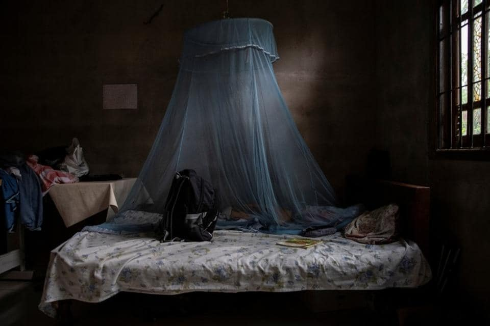 "In Sri Lanka, weeks after the devastating bomb attacks, the school bag of Wishmi, 14, lies on her bedspread. ""I don't feel like my daughters have left me. I don't want to accept it,"" Chandima said, her face bandaged from a shrapnel wound. Men, women and children of all ages were among those killed in the blasts across the country, claimed by Islamic State, that targeted churches and hotels.  (Danish Siddiqui / REUTERS)"