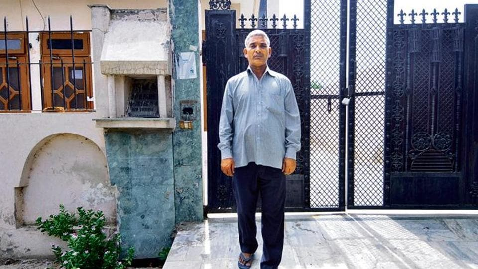Exterior views of the premises of the now sealed house where a drug syndicate was exposed in Sector P-4, in Greater Noida