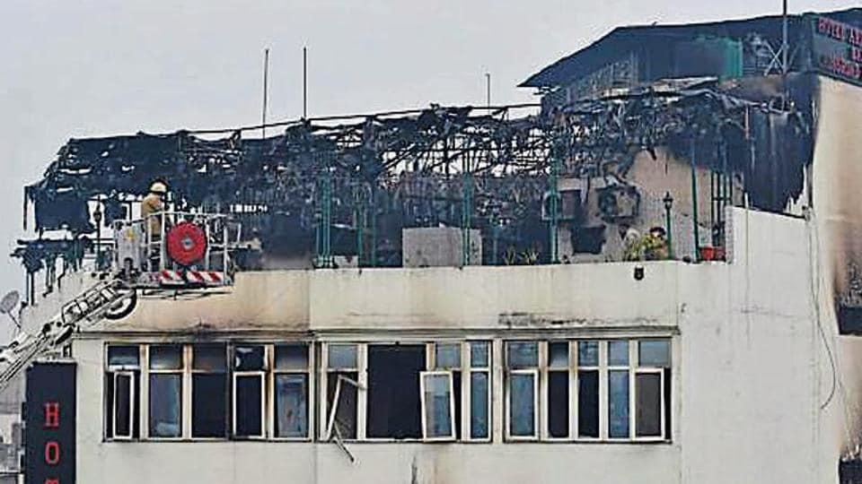 Arpit Palace,Karol Bagh,fire