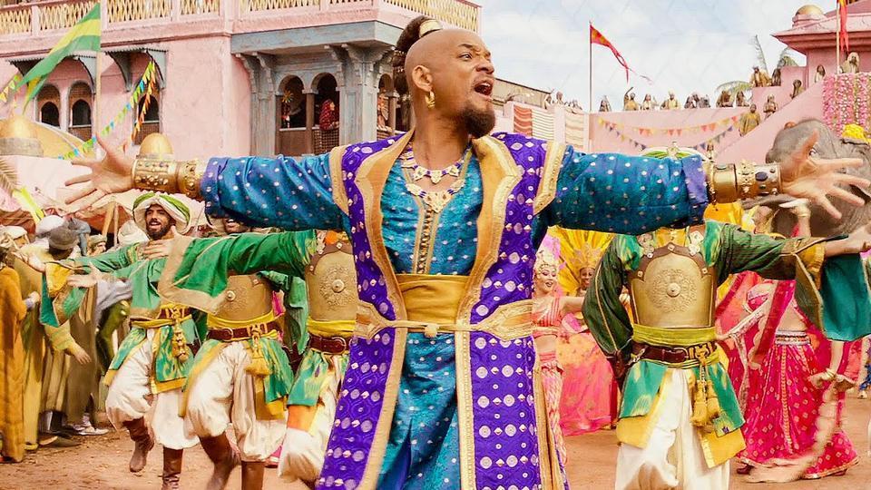 Will Smith plays Genie in Aladdin.