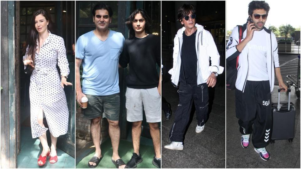 Arbaaz Khan takes girlfriend Giorgia Andriani, son Arhaan out, Shah Rukh Khan returns from New York. See pics