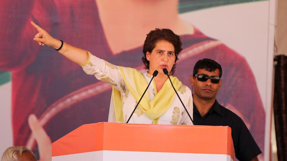 """It's not enough to say that in your heart, you will not forgive them. You are a political leader, you have to state your political position,"" Priyanka Gandhi said about PM Modi over the Godse remark by BJP Bhopal candidate Pragya Thakur. (Sanjeev Kumar / HT File)"