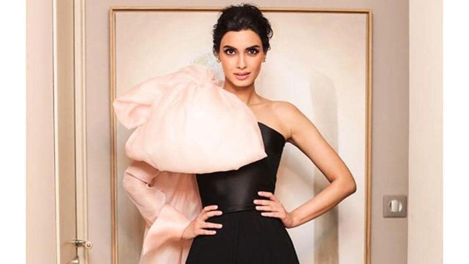 Diana Penty stuns in a black couture gown by Celia Kritharioti at Chopard party.