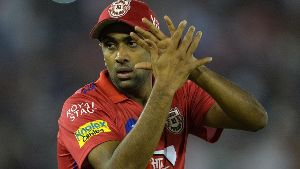Kings XI Punjab cricketer and team captain Ravichandran Ashwin gestures after victory in the Indian Premier League 2019.