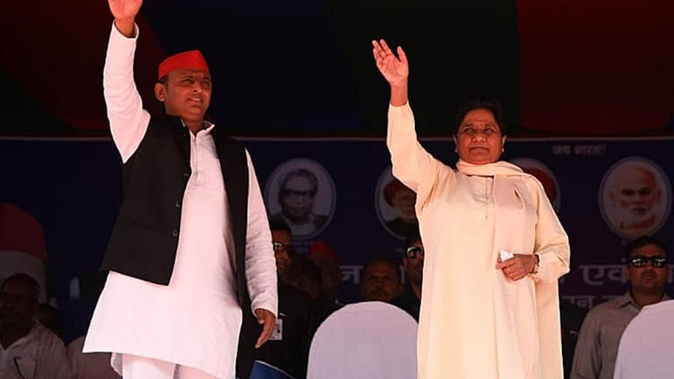 Exit poll projections show SP-BSP coalition gaining seats in Uttar Pradesh