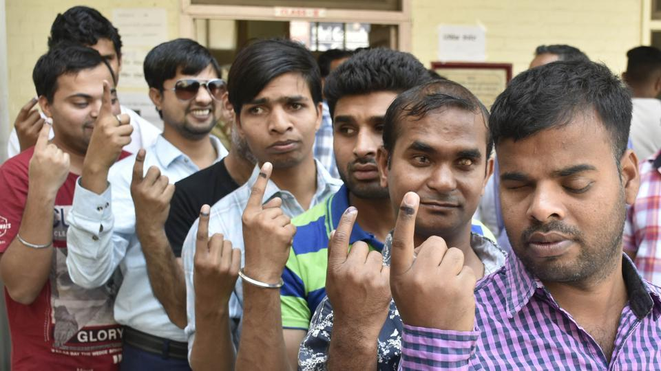 lok sabha elections 2019,lok sabha polls in punjab,polling booth managed by differently abled in ludhiana
