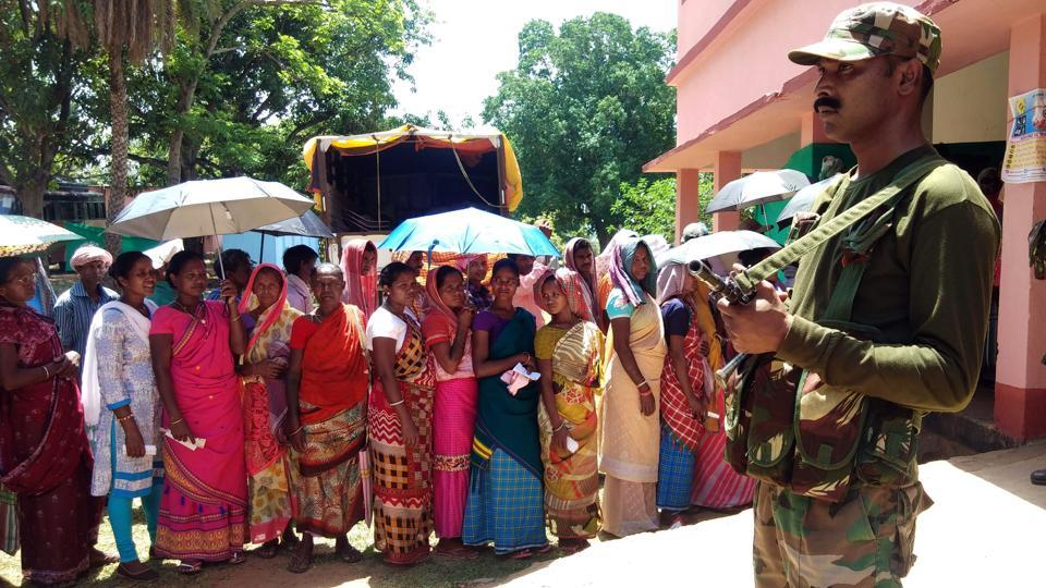 The final phase of Lok Sabha polls in Jharkhand registered a record voters' turnout of 71.16%, a jump of nearly 3% over the 2014 polls in three tribal-dominated parliamentary constituencies of Rajmahal, Dumka and Godda, on Sunday.