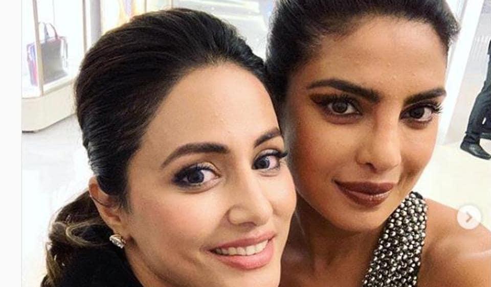 Priyanka Chopra,Hina Khan,Priyanka on Hina