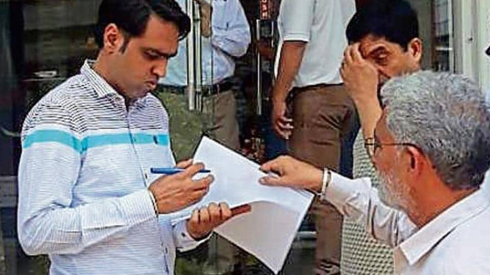 Earlier on Saturday, a DTCP team had surveyed houses in Sushant Lok 1 and cancelled the OCs of nine houses as their owners had allegedly violated sanctioned plans