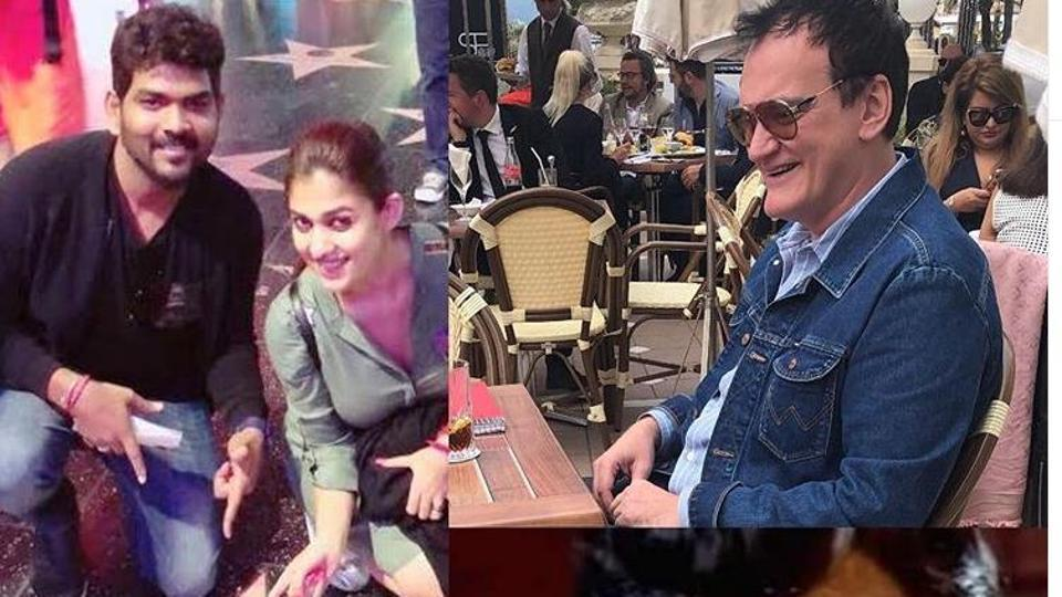 Vignesh Shivan shared pictures and a video to mark his meeting with Tarantino.