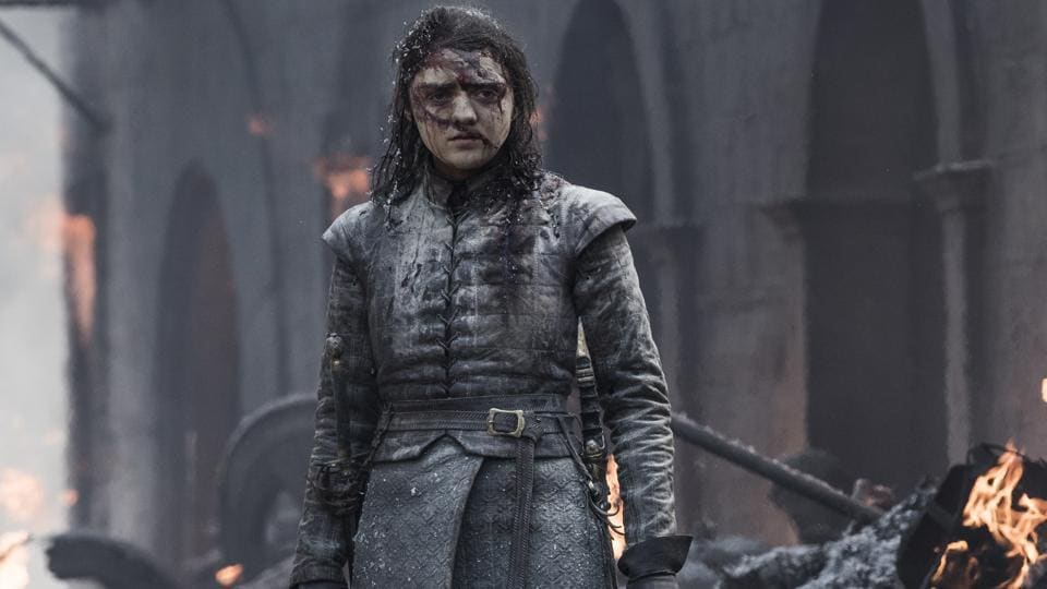 Maisie Williams as Arya Stark in a still from Game of Thrones' final season.