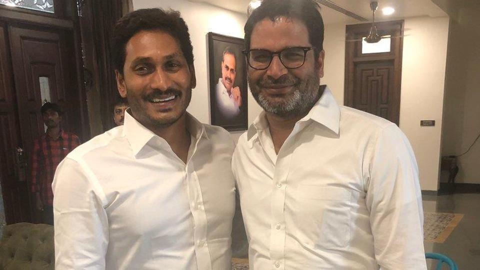 Prashant Kishor with Jagan Mohan Reddy after his huge victory in Andhra Pradesh. (I-PAC Photo)