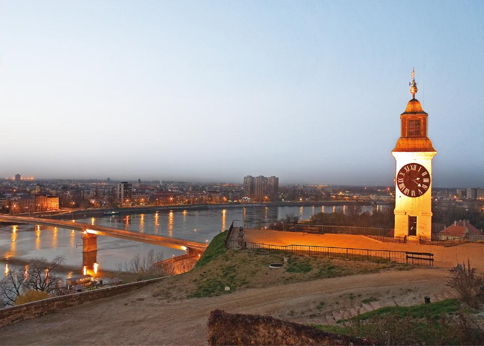 The Petrovaradin Fortress, designed by a French architect, was built by the Habsburgs to control the land along the river and block the Ottomans