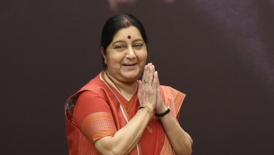 Sushma Swaraj,Shah Qureshi,Shah Mehmood Qureshi