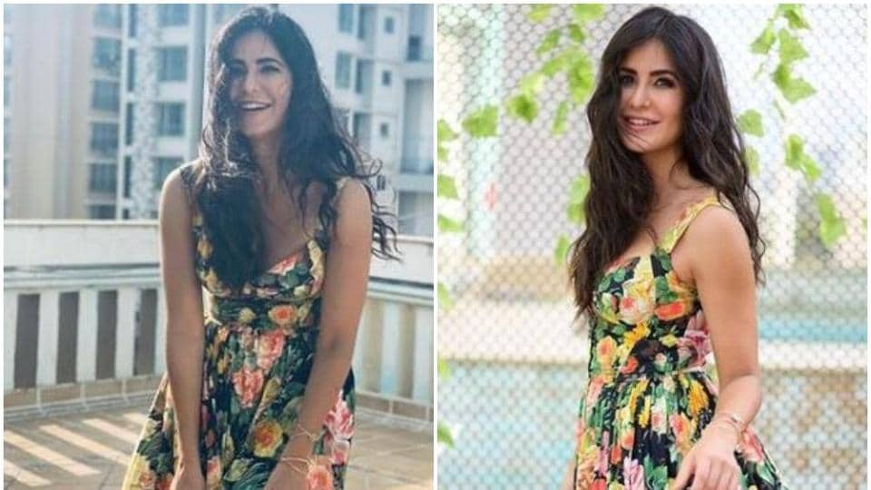 Katrina Kaif adds a dash of colour to her Bharat promotions.