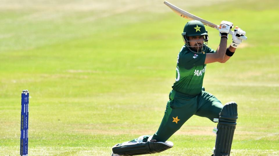 Pakistan's Babar Azam bats during the 2019 Cricket World Cup warm up match between Pakistan and Afghanistan. (AFP)