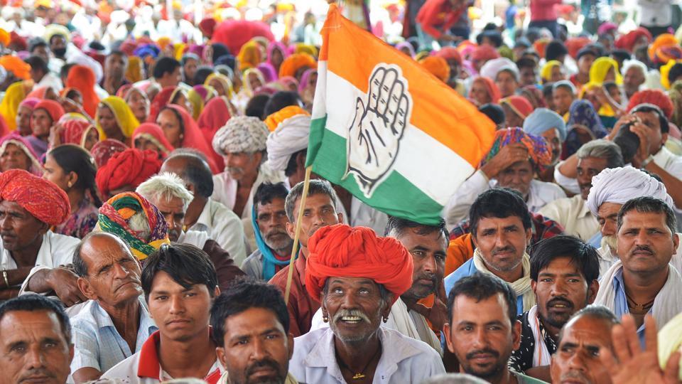 An Indian National Congress party rally, Bandanwara, Rajasthan, April 25, 2019