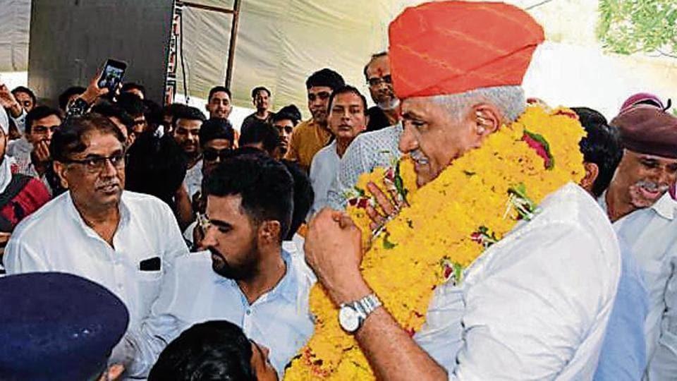 BJP's Gajendra Singh Shekhawat defeated Vaibhav Gehlot in Jodhpur Lok Sabha seat by a margin of 2,74,440 votes.