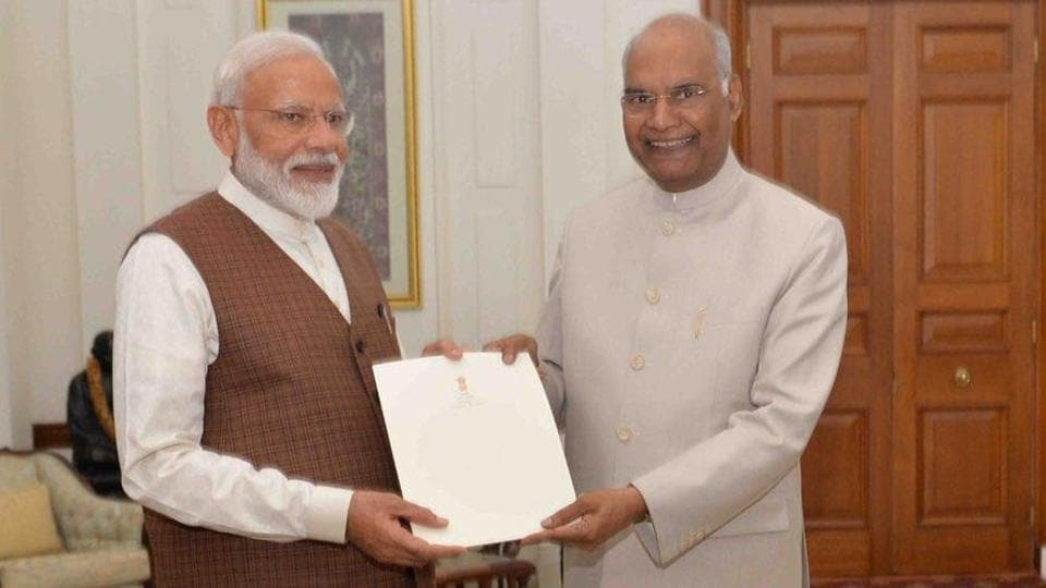 Narendra Modi stakes claim for second term at meeting with President Kovind