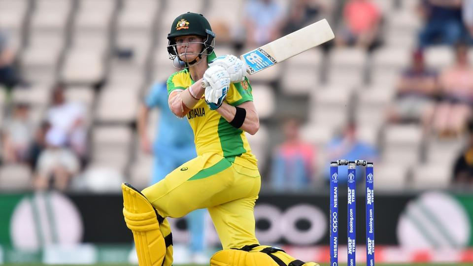 Steve Smith in action during Australia's ICC World Cup warm-up match against England. (AFP)