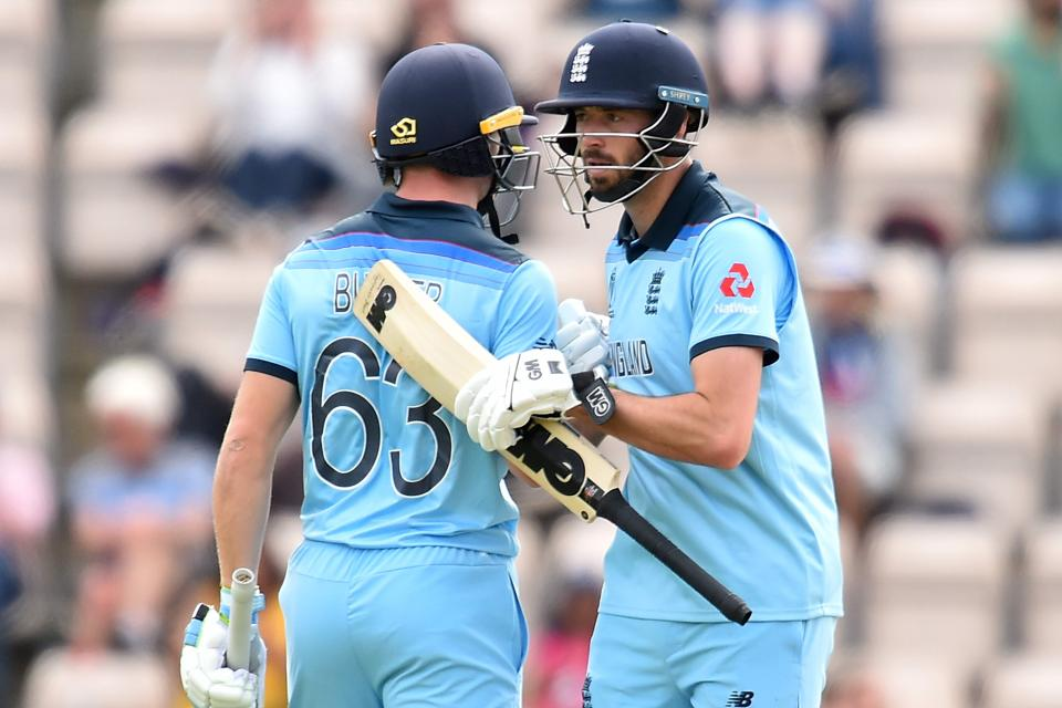 James Vince and Jos Buttler notched half-centuries for England. (AFP)