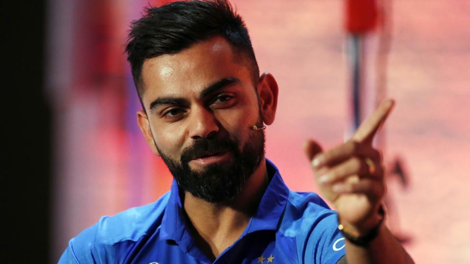 Virat Kohli attends a press conference ahead of the ICC World Cup.