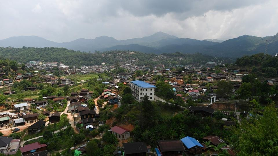 A general view of Mogok town. Myanmar's ruby industry surged in the mid-90s when the former military junta first allowed in private companies that brought with them more industrial methods. But western sanctions hit hard. In 2008 the US closed a loophole that had allowed imports of gems from Myanmar -- despite 2003 sanctions on the industry -- in a bid to starve the junta of funds. (Ye Aung Thu / AFP)