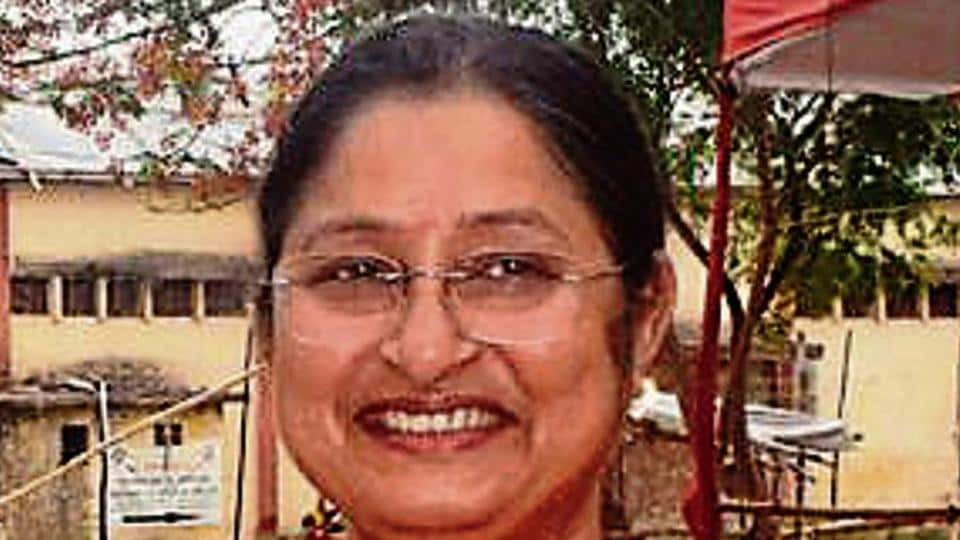 BJP candidate Annapurna Devi after winning Koderma Lok Sabha seat in Koderma,