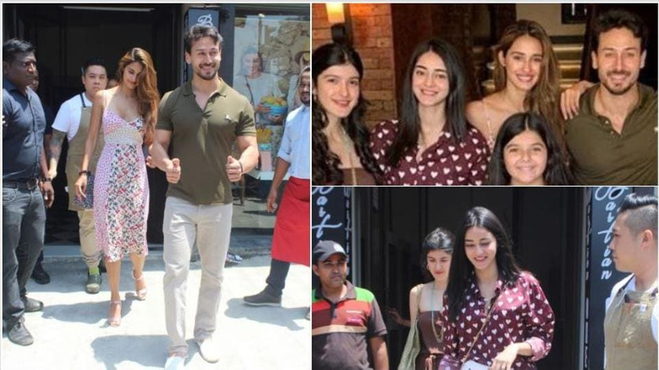 Disha Patani, Tiger Shroff, Shanaya Kapoor and Ananya Panday at Bastian.