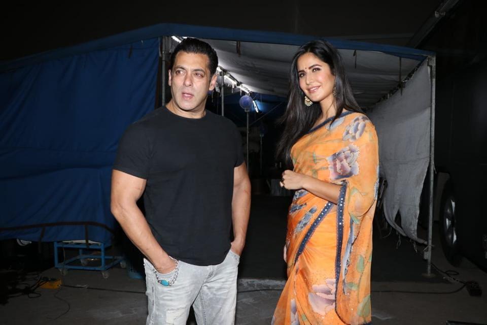 Actors Salman Khan and Katrina Kaif at a Mumbai studio on May 25, 2019. (Photo: IANS)