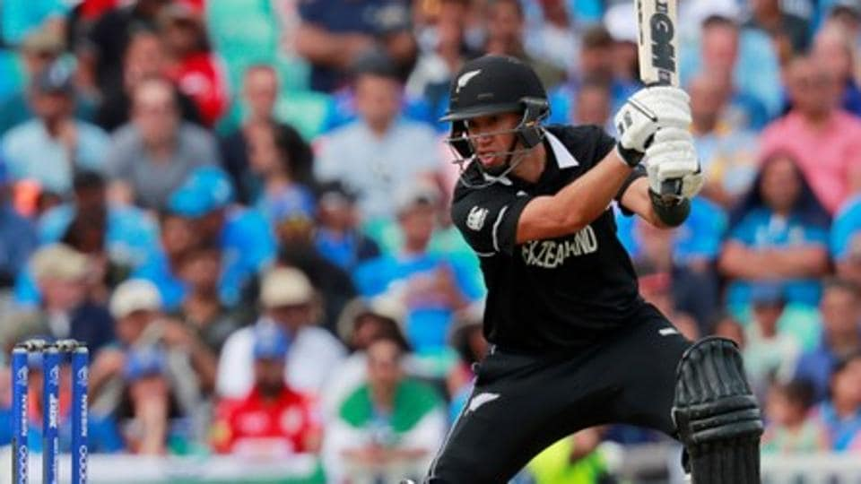New Zealand's Ross Taylor in action in the World Cup warm-up match against India.
