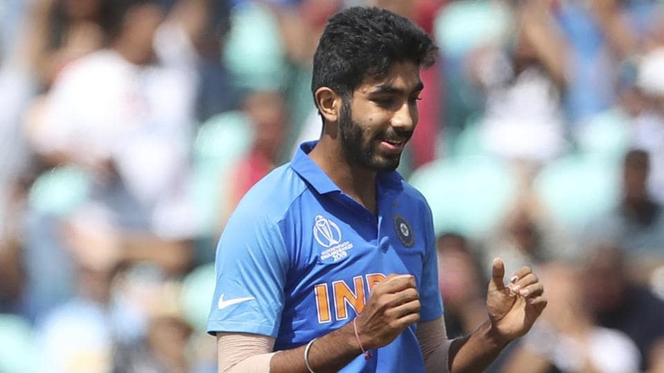 India's Jasprit Bumrah celebrates the dismissal of New Zealand's Colin Munro during the Cricket World Cup warm up match between India and New Zealand at The Oval in London, Saturday, May 25, 2019