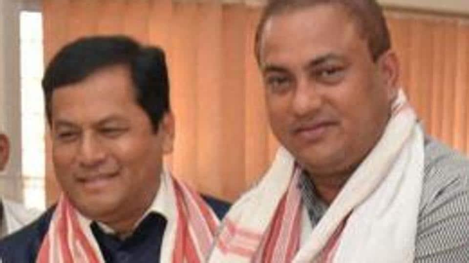 BJP candidate and MP Kamakhya Prasad Tasa files his nomination