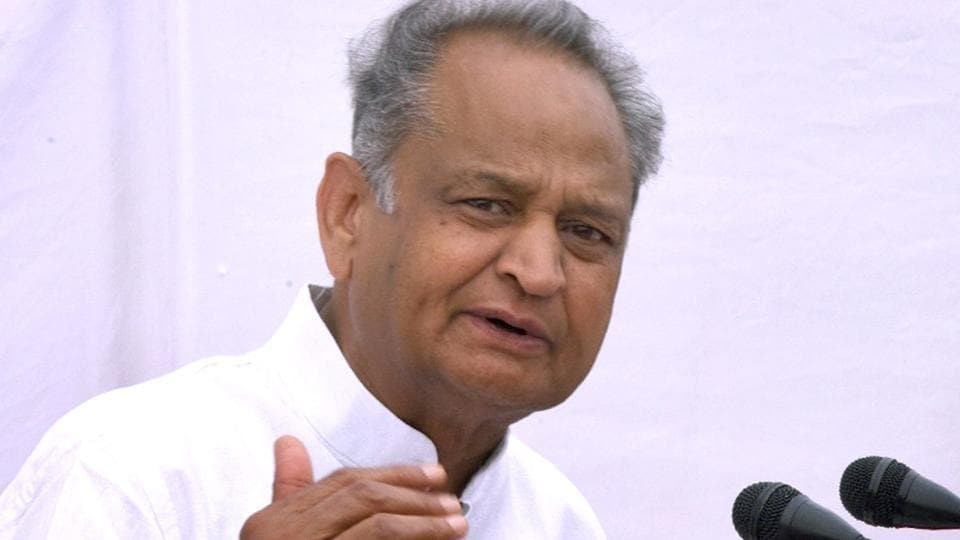 CM Ashok Gehlot intrect with media person at his residence in jaipur on Wednesday
