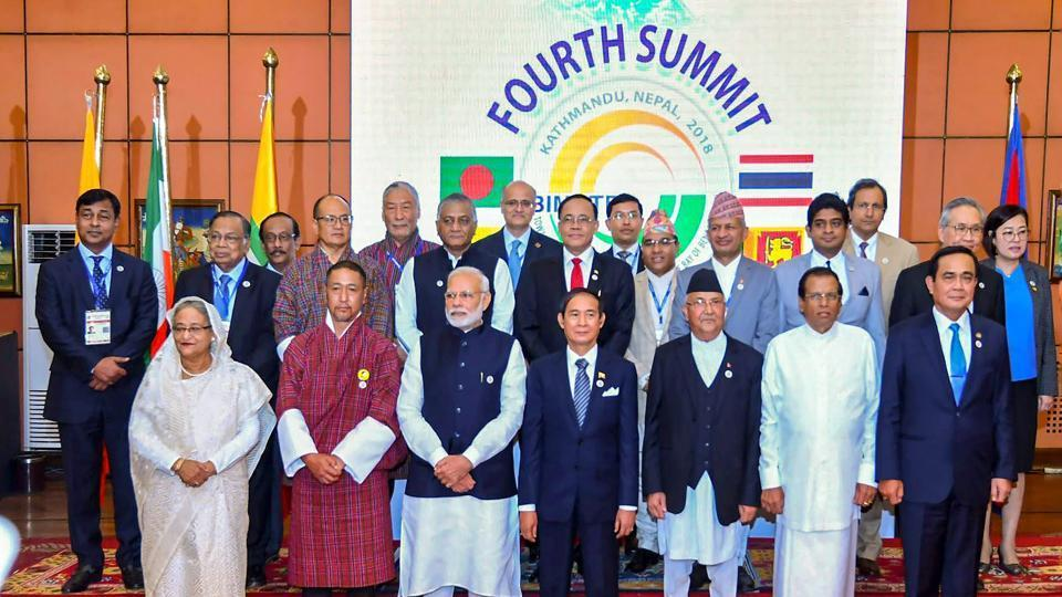 Prime Minister Narendra Modi and other BIMSTEC leaders in a group photograph with the HODs of Ministerial delegations and senior officials, during the 4th BIMSTEC Summit, in Kathmandu, Nepal on August 31, 2018