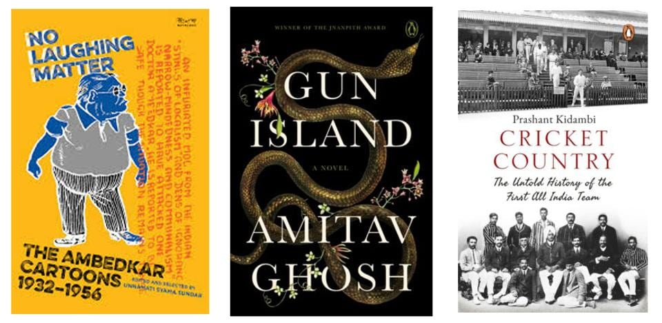 A study of cartoons on a prominent historical figure, a novel from one of our best novelists, and a history of the earliest Indian cricket team - all that on our list of interesting reads this week.
