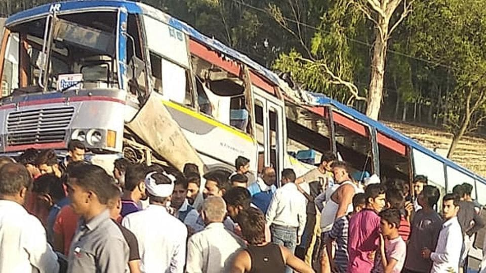 The bus was on its way to Hisar from Chandigarh when the accident occurred, killing 3.