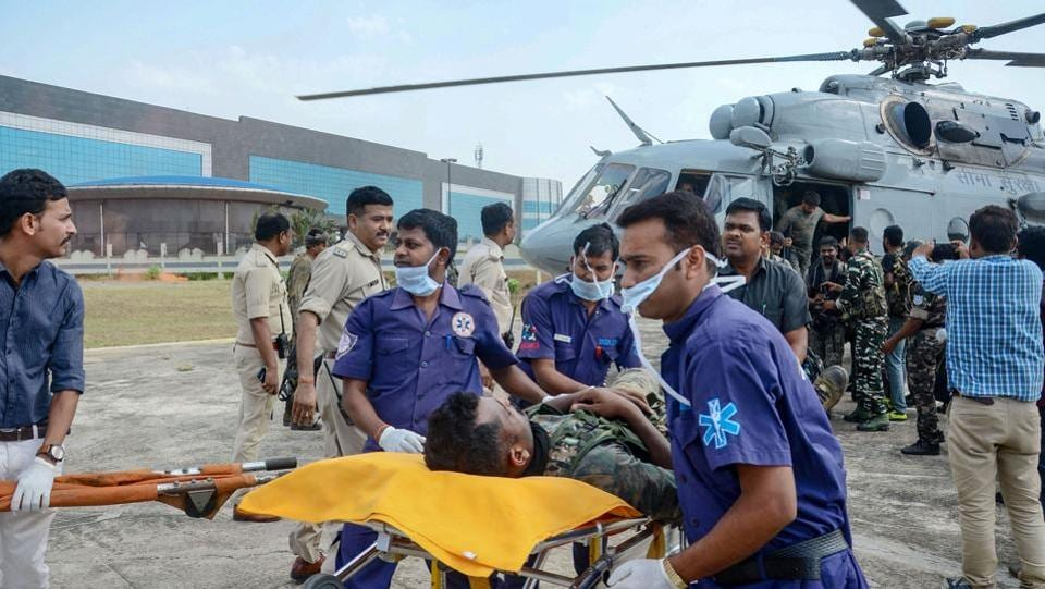 Eleven security personnel of CRPF's elite CoBRA unit and Jharkhand police are injured in an IED blast in Saraikela-Kharsawan district of the state. According to officials, the Maoist ambushed the patrolling party by planting several improvised explosive devices under a culvert near a hilly in Rai Sindri hills under Kuchai police station of the district. (PTI)