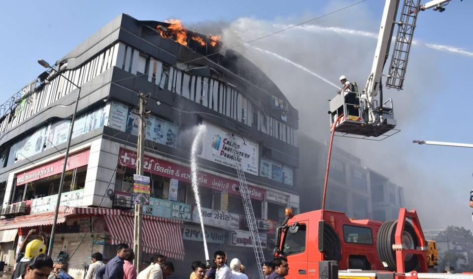A fire broke out on Friday at a coaching centre in Takshashila Complex, Surat, leaving 22 students dead.