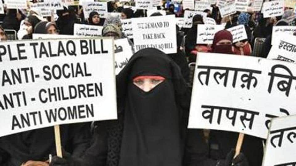 On Saturday  police complaint was lodged against her husband under the ordinance which curtails the practice of instant triple talaq.