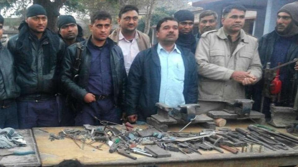 illegal arms,bharatpur division,rajasthan police